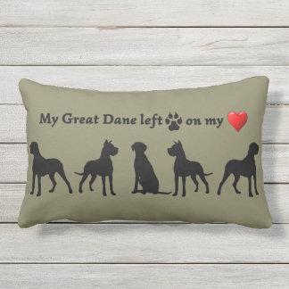 Great Dane Paw Prints Heart Pet Dog Animal Art Outdoor Pillow