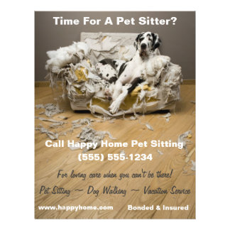 Great Dane Pet Sitting Flyer