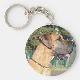 Great Dane Photo Keychain