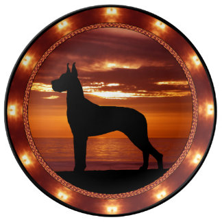 Great Dane Porcelain Plate
