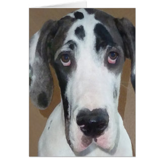 Great Dane Puppy Gunner's Goofy Face Card