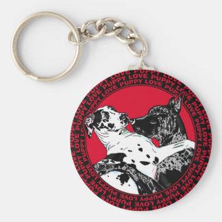 Great Dane Puppy Love Keychain