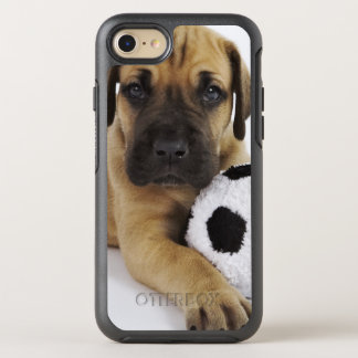 Great Dane puppy with toy soccer ball OtterBox Symmetry iPhone 8/7 Case