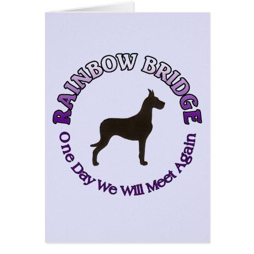 GREAT DANE RAINBOW BRIDGE SYMPATHY CARD