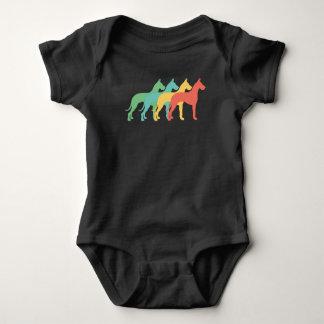Great Dane Retro Pop Art Baby Bodysuit