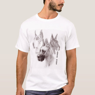 Great Dane Ruby Duotone Art T-Shirt