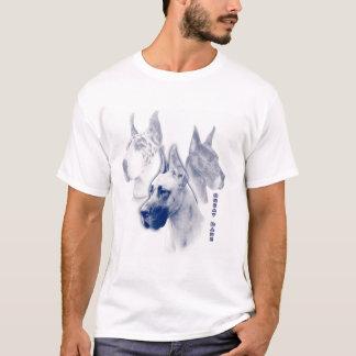 Great Dane Sapphire Duotone Art  T-Shirt