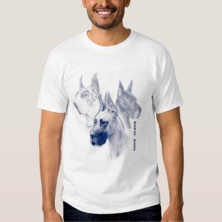 Great Dane Sapphire Duotone Art  T Shirts
