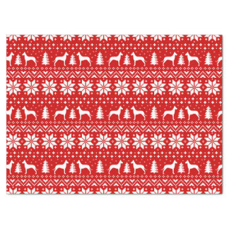 Great Dane Silhouettes Christmas Pattern Tissue Paper