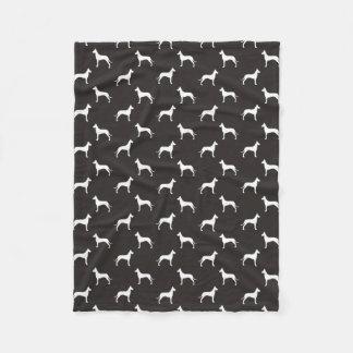 Great Dane Silhouettes Pattern Fleece Blanket