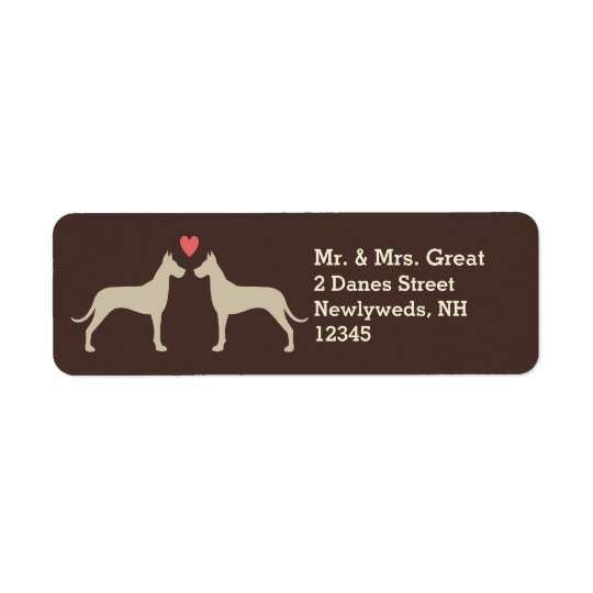Great Dane Silhouettes with Heart