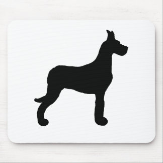 Great Dane silo black Mouse Pad