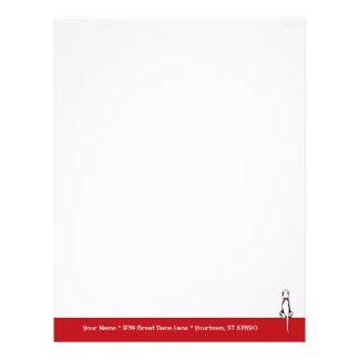 Great Dane Sit White UC Letterhead Template
