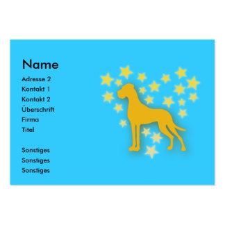 Great Dane Starheart Large Business Card