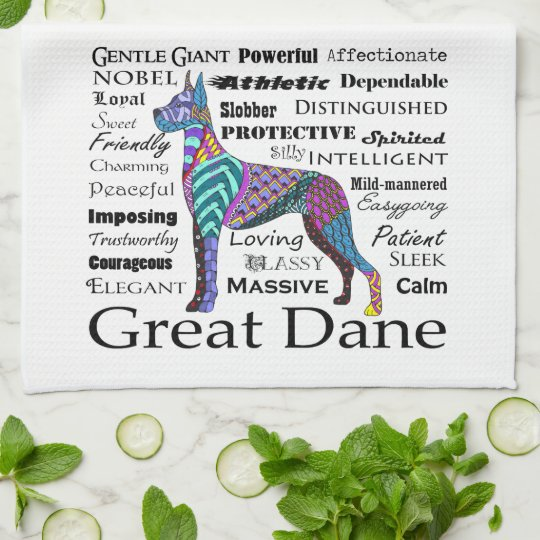 Great Dane Traits Kitchen Towel