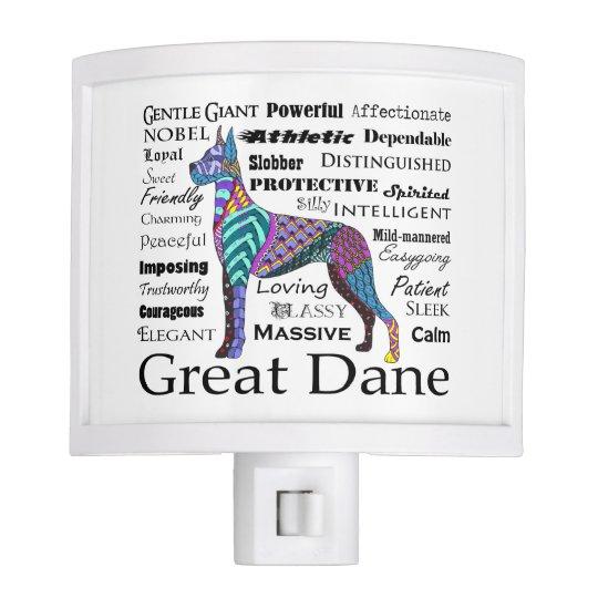 Great Dane Traits Night Light