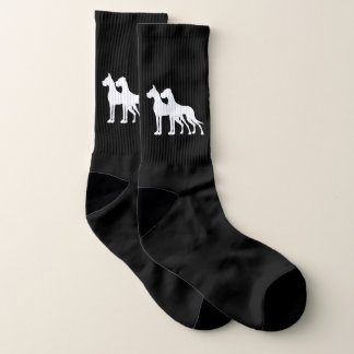 Great Dane White cropped uncropped large socks 1