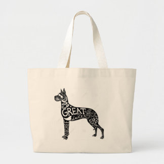 Great Danes are GREAT! Large Tote Bag