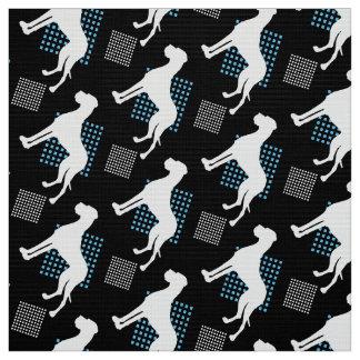 Great Danes on black Fabric