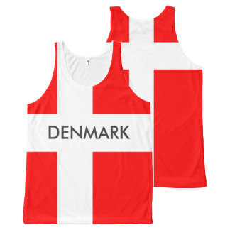 Great Denmark Unisex Tank! All-Over-Print Tank Top