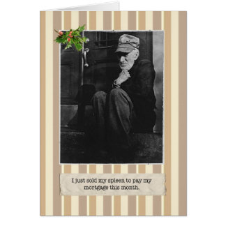 Great Depression Spleen Holiday Card