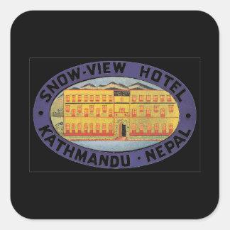 Great Eastern Hotel Calcutta_Vintage Travel Poster Square Sticker