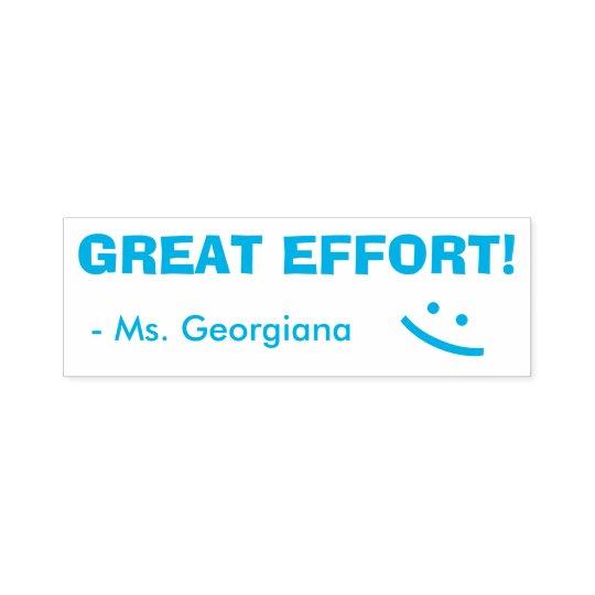 """""""GREAT EFFORT!"""" Grading Rubber Stamp"""