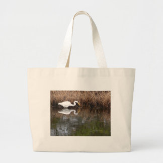 Great Egret 1 Large Tote Bag
