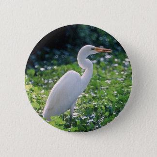 Great Egret 2 Inch Round Button