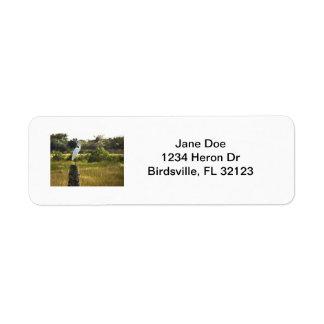 Great Egret at Viera Wetlands Label Return Address Label