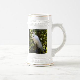 Great Egret Beer Stein