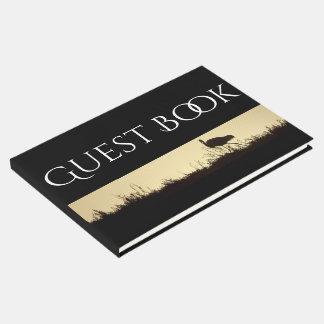 Great Egret Bird Dawn Wildlife Animal Guest Book