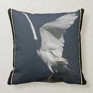 Great Egret Bird Wildlife Animal Throw Pillow