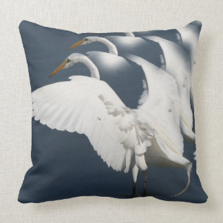 Great Egret Bird Wildlife Animal Throw Pillow