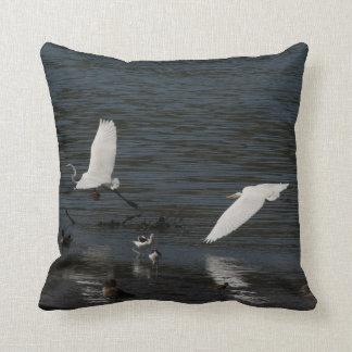 Great Egret Birds Wildlife Animal Photography Throw Pillow