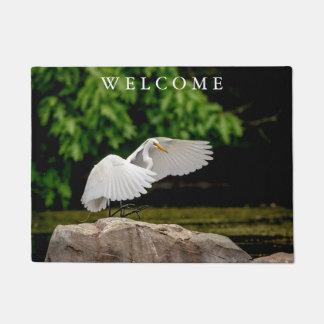 Great Egret Doormat