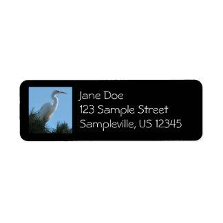 Great Egret in Sunny Florida Return Address Label