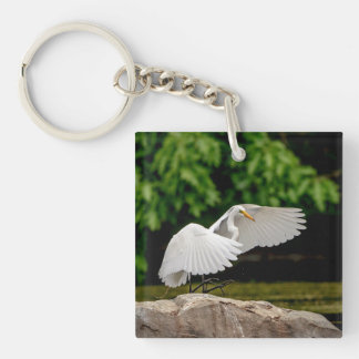 Great Egret Keychain