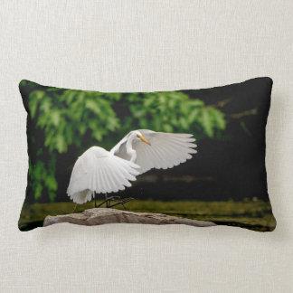 Great Egret Lumbar Pillow