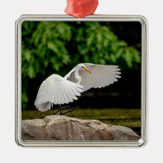 Great Egret Metal Ornament