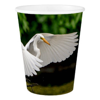Great Egret Paper Cup