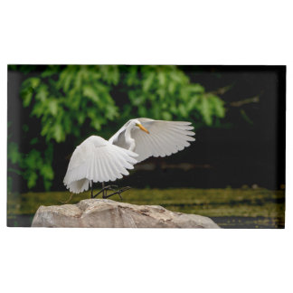 Great Egret Place Card Holder