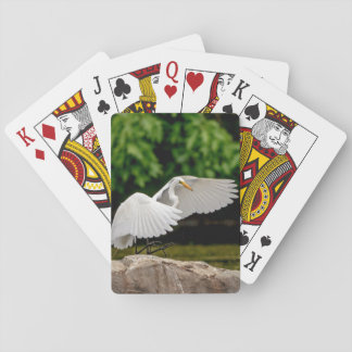 Great Egret Poker Deck