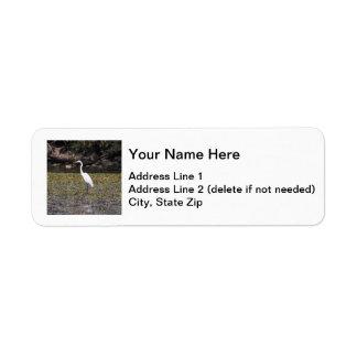 Great Egret Return Address Label