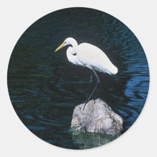 Great Egret Round Sticker
