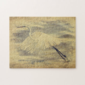 Great Egret sketch puzzle