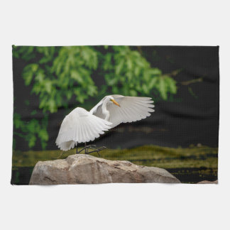 Great Egret Towel