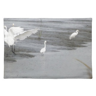 Great Egrets in a swamp Placemats