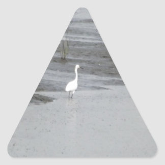 Great Egrets in a swamp Triangle Sticker