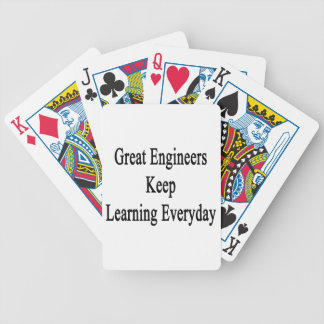 Great Engineers Keep Learning Everyday Bicycle Playing Cards
